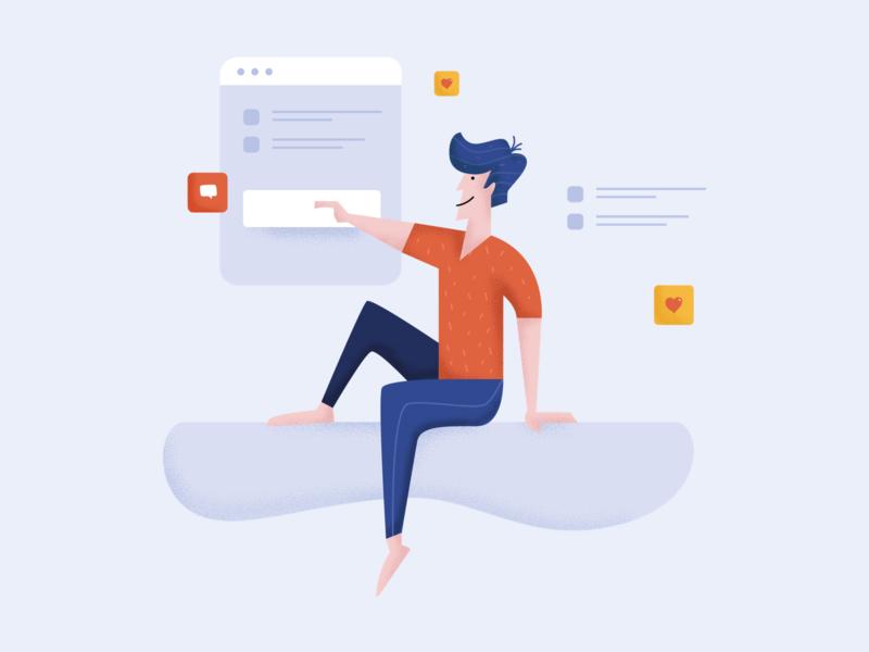 Just tap it design web social web illustration website ui people illustration character design character business