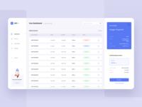 Online Customer Service - Dashboard dashboard ui web application web app design ux ui desktop app account manager invoice dashboard design desktop