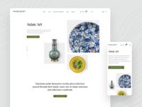 eCommerce Website minimal clean eshop e-commerce store landing page buy art website web design mobile ui www shop ecommerce gallery uidesign ux ui