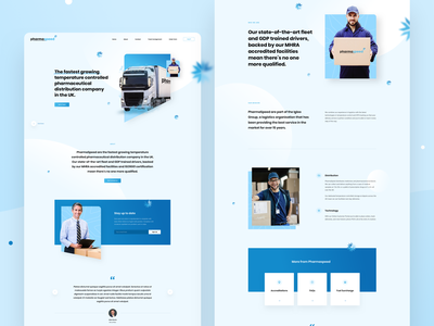 Landing & Internal Page landing design landing page about delivery pharma pharmaceutical transport ui ux uidesign website web