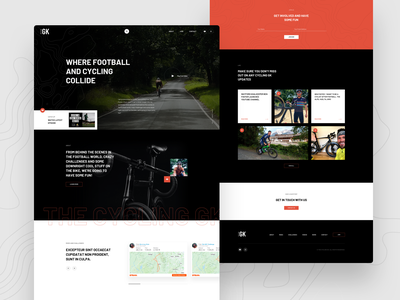 Cycling Project - Landing Page homepage web design design landing page web ux ui bike cycling