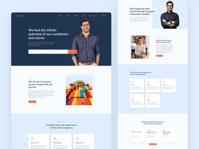 Recruitment Agency Website uidesign website work job finder benefits job search vacancy job recruitment ux ui