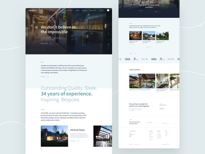 Glass and Glazing Specialists www home design design ux ui website homepage landing page web specialists glass glazing