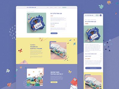 Product Page - Desktop & Mobile Designs web design product page website mobile customization book buy shop e-commerce ecommerce product ux ui