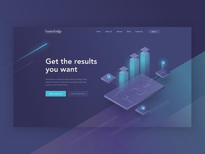 HL Homepage v2 purple web ux ui campaign homepage illustration