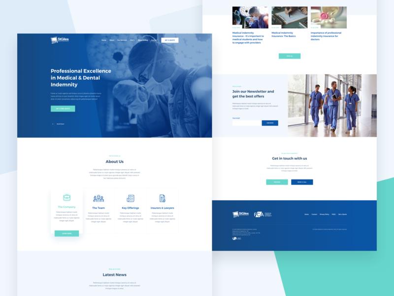 M&D Indemnity Desktop desktop design clean landing page ux ui homepage website indemnity doctors dental medical