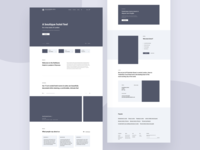 Hotel Homepage Wireframes