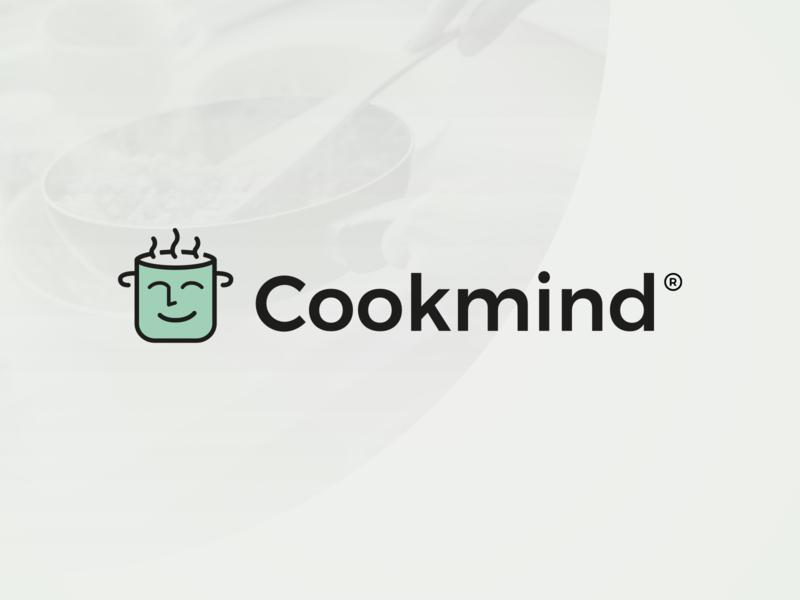 Cookmind - Logo Design identity chef cook cooking blog food cooking icon brand mark logotype logo design