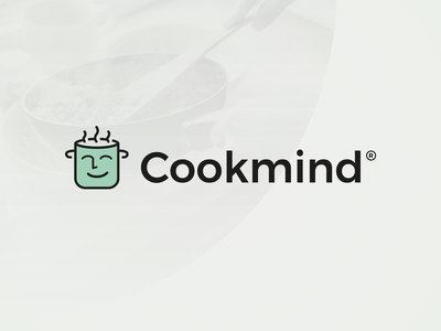 Cookmind - Logo Design identity chef cook cooking blog food cooking icon brand mark logotype logo design