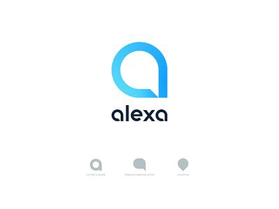 Alexa Concept letter a devices icon symbol brand fresh logo technology alexa