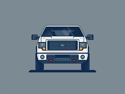 Ford Truck off-road 4x4 f150 ford truck illustration