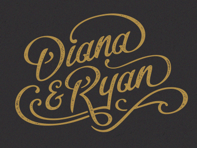 Custom Type typography type custom hand lettering flourish gold
