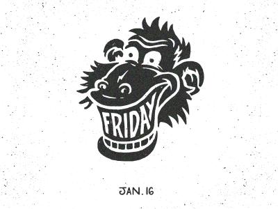 Get ur Friday Teeth On! friday monkey illustration doodle tgif teeth