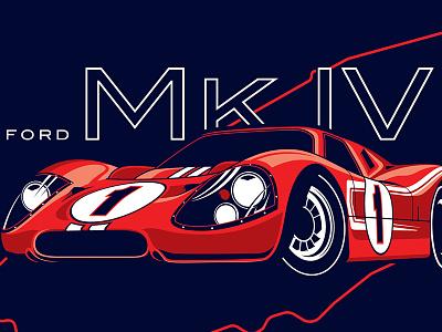 '67 Ford Mk IV tshirt ford car vehicle lemans gt40 mark iv speed design winner
