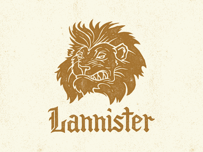 Lannister game thrones game of thrones illustration lion tv hand lettering typography custom