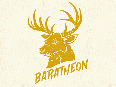 Baratheon game thrones game of thrones illustration stag tv hand lettering typography custom