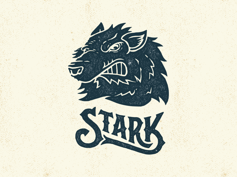 Stark game thrones game of thrones illustration direwolf tv hand lettering typography custom
