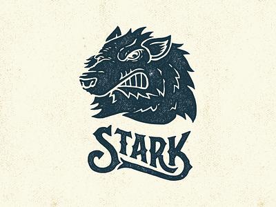 Stark game thrones game of thrones illustration direwolf tv hand lettering typography custom