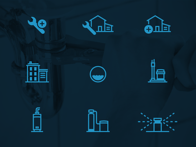 Plumbing Icons drain pump outline icons service construction wrench home water plumbing icons