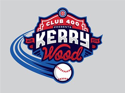 Kerry Wood banner badge logo wood kerry field wrigley chicago cubs baseball
