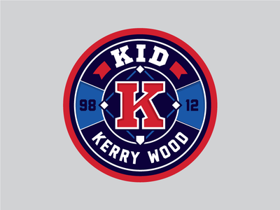 Kerry Wood field badge chicago cubs pitcher bases diamond baseball