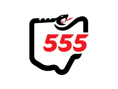 Snake Graphic road route route 555 bike cycle badge motorcycle state serpent snake vehicle ohio