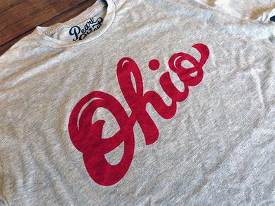 Ohio Script T-shirt handlettering custom tee t-shirt typography type script ohio