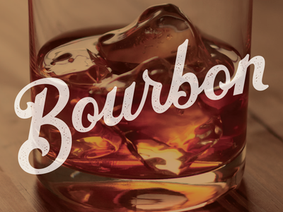 Mmmm...Bourbon libations custom script hand lettering typography type whiskey drink bourbon