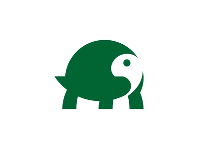 Tortoise logo mark symbol negative space icon illustration turtle tortoise