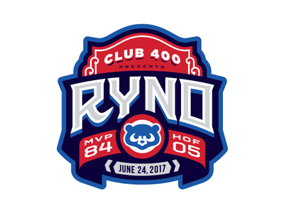 Ryno badge event branding chicago sports logo baseball cubs