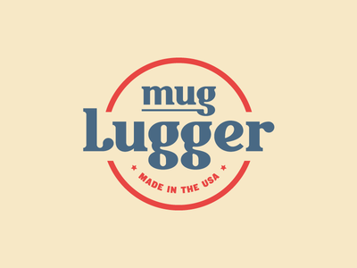 Mug Lugger Logo slab lettering usa serif typography hand lettering custom type