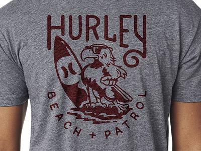 Beach Eagle custom type type design apparel tshirt hurley illustration eagle beach surf