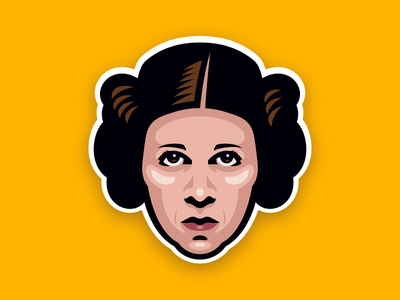 You're My Only Hope head leia princess vector digital illustration star wars
