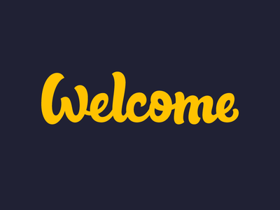 Welcome welcome script hand lettering lettering custom typography type