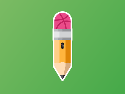 Dribbble Pencil sketch eraser sticker illustration pencil sticker mule dribbble