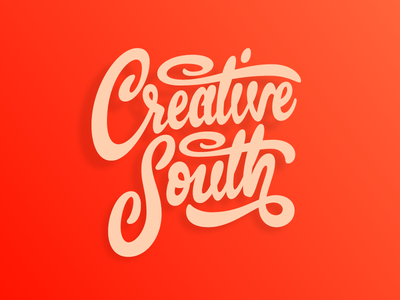 Creative South typography lettering conference peach georgia script hand lettering type creative south
