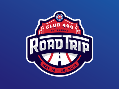 Road Trip! club 400 chicago badge logo cubs baseball road road trip