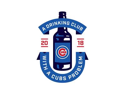 Cubs Problem illustration banner drinking mlb baseball chicago cubs bottle beer