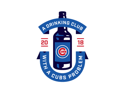 Cubs Problem illustration banner drinking mlb baseball chicago cubs bottle beer