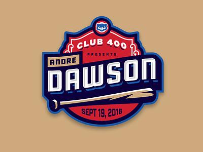 Andre Dawson Event custom type mlb badge logo bat baseball chicago cubs
