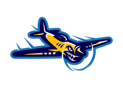 The Flyers airplane plane flyer school team design sports mascot logo flyers