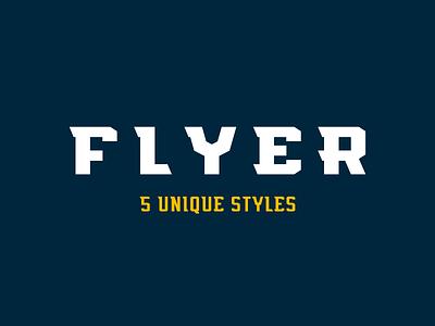 Flyer Font - Live sports font condensed light regular bold wide style athletics type sports flyer font