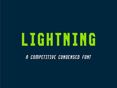 Lightning Font inline regular bold light sports display font condensed type professional college font lightning