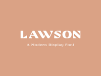 Lawson - Modern Display Font