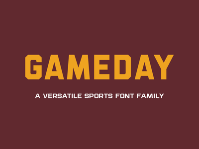 Gameday Font fonts sports gameday college collegiate professional display font