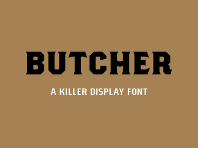 New Font: Butcher packaging holiday serif display font font design typography type font
