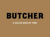 New Font: Butcher