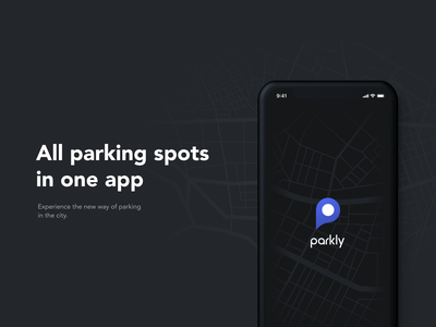 parkly app inroduction app design showcase logo app parking user interface mobile night mode ios car ux ui