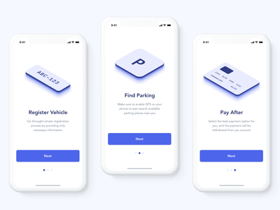 parkly app onboarding onboarding navigation app design app parking mobile ios car user interface ux ui