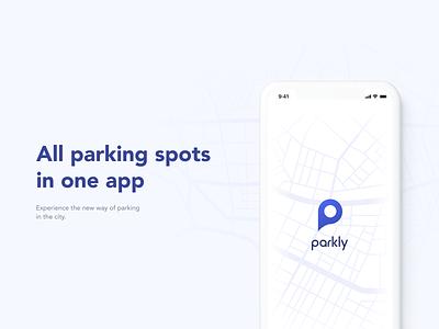 parkly app inroduction mobile app parking app mobile navigation app design car app user interface parking ux ui